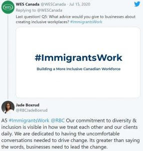 Employers response #ImmigrantsWork